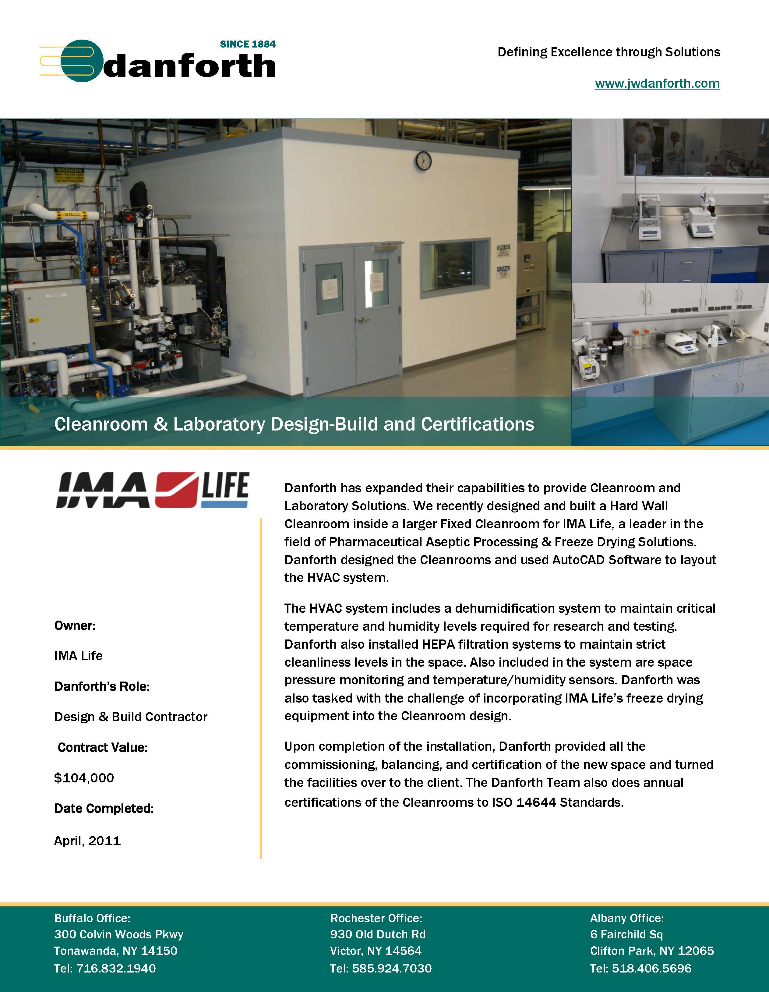 IMA Life Pharmaceutical Critical Environment Project Case Study.pdf #166E67